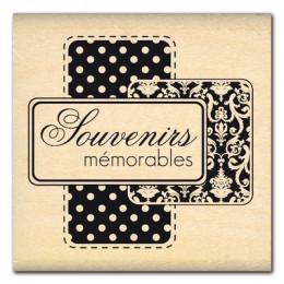 Commandez Tampon bois SOUVENIRS MEMORABLES  Florilèges Design. Livraison rapide et cadeau dans chaque commande.