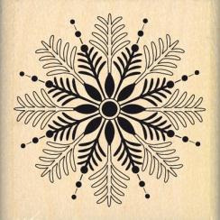 Tampon bois FLOCON PAR LÀ par Florilèges Design. Scrapbooking et loisirs créatifs. Livraison rapide et cadeau dans chaque com...