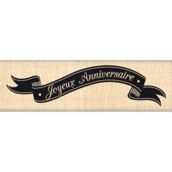 Tampon bois BANNIÈRE ANNIVERSAIRE par Florilèges Design. Scrapbooking et loisirs créatifs. Livraison rapide et cadeau dans ch...