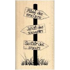 Tampon bois TROIS PANNEAUX par Florilèges Design. Scrapbooking et loisirs créatifs. Livraison rapide et cadeau dans chaque co...