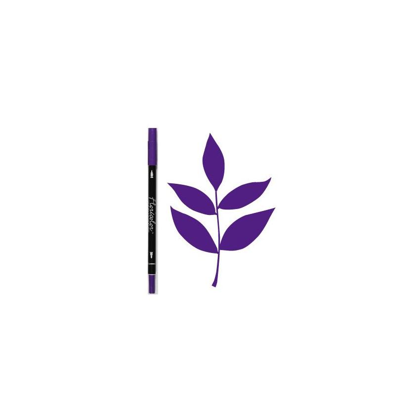 Feutre encreur Floricolor VIOLET par Florilèges Design. Scrapbooking et loisirs créatifs. Livraison rapide et cadeau dans cha...
