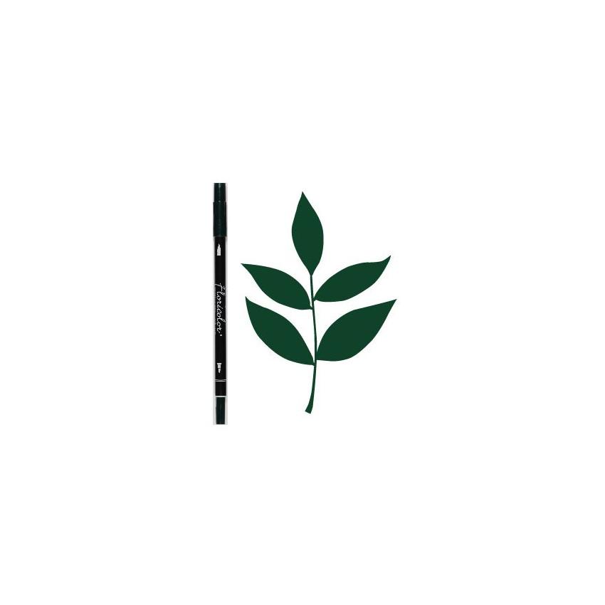 PROMO de -75% sur Feutre encreur Floricolor VERT BOUTEILLE Florilèges Design