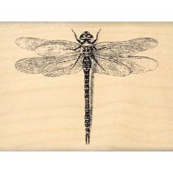 Tampon bois JOLIE LIBELLULE par Florilèges Design. Scrapbooking et loisirs créatifs. Livraison rapide et cadeau dans chaque c...
