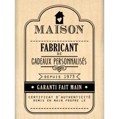 Tampon bois FABRICANT DE CADEAUX par Florilèges Design. Scrapbooking et loisirs créatifs. Livraison rapide et cadeau dans cha...