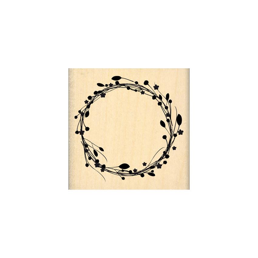 Commandez Tampon bois COURONNE DE FLEURS Florilèges Design. Livraison rapide et cadeau dans chaque commande.