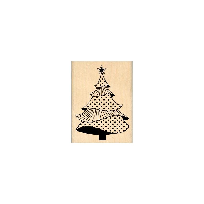 Tampon bois SAPIN MAJESTUEUX par Florilèges Design. Scrapbooking et loisirs créatifs. Livraison rapide et cadeau dans chaque ...