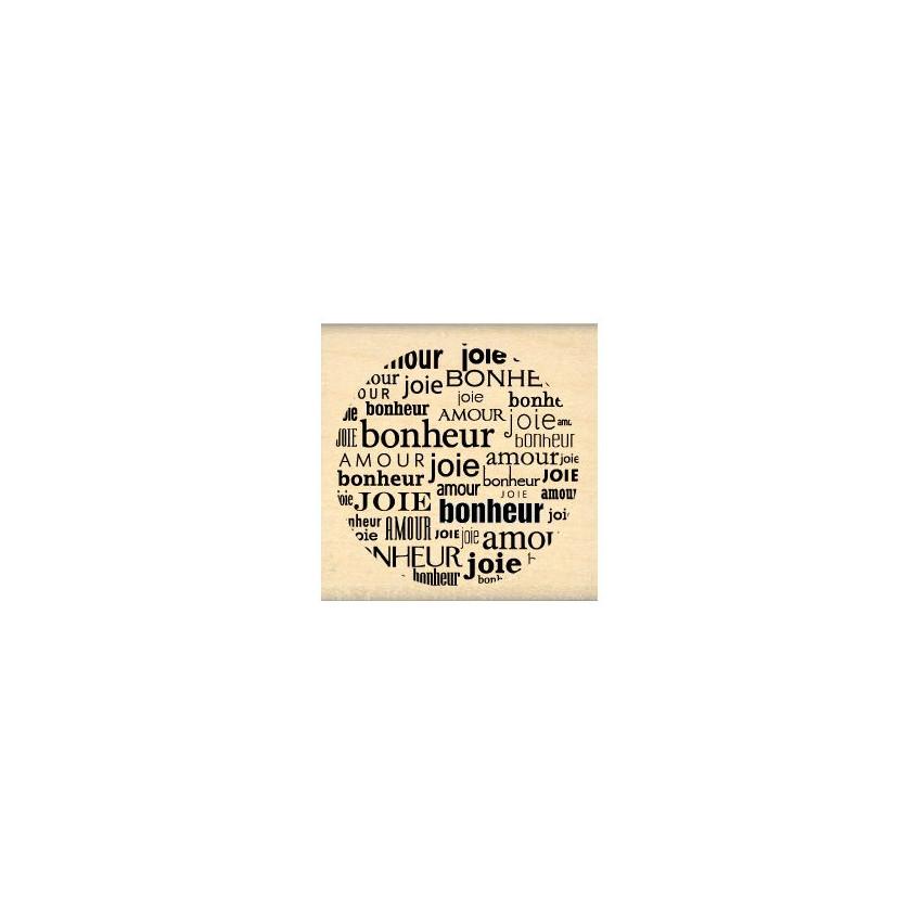 PROMO de  sur Tampon bois CERCLE D'AMOUR Florilèges Design