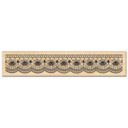 Tampon bois FINE DENTELLE par Florilèges Design. Scrapbooking et loisirs créatifs. Livraison rapide et cadeau dans chaque com...