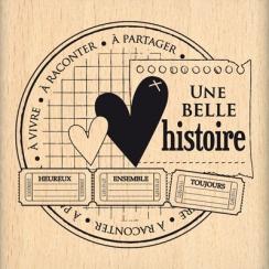 Tampon bois HISTOIRE A PARTAGER  par Florilèges Design. Scrapbooking et loisirs créatifs. Livraison rapide et cadeau dans cha...