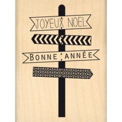 Tampon bois JOYEUX PANNEAUX par Florilèges Design. Scrapbooking et loisirs créatifs. Livraison rapide et cadeau dans chaque c...
