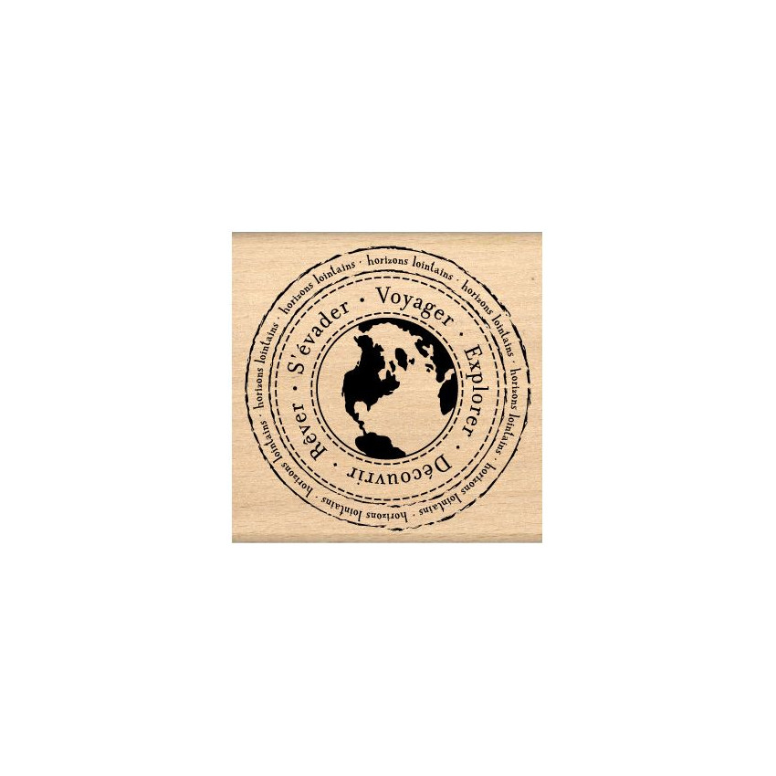 PROMO de -20% sur Tampon bois HORIZONS LOINTAINS Florilèges Design