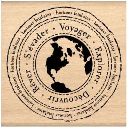 Tampon bois HORIZONS LOINTAINS par Florilèges Design. Scrapbooking et loisirs créatifs. Livraison rapide et cadeau dans chaqu...