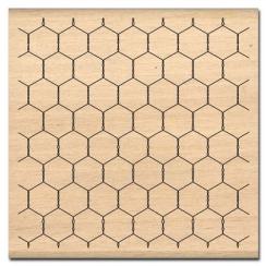 Tampon bois PETIT GRILLAGE par Florilèges Design. Scrapbooking et loisirs créatifs. Livraison rapide et cadeau dans chaque co...
