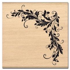 Tampon bois ANGLE DÉCO par Florilèges Design. Scrapbooking et loisirs créatifs. Livraison rapide et cadeau dans chaque commande.