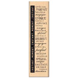 Tampon bois MOMENT SPECIAL ET PARFAIT  par Florilèges Design. Scrapbooking et loisirs créatifs. Livraison rapide et cadeau da...