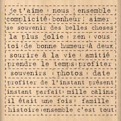 Tampon bois MILLE MOTS  par Florilèges Design. Scrapbooking et loisirs créatifs. Livraison rapide et cadeau dans chaque comma...
