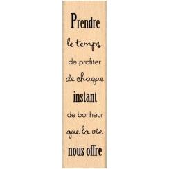 Tampon bois PRENDRE LE TEMPS par Florilèges Design. Scrapbooking et loisirs créatifs. Livraison rapide et cadeau dans chaque ...