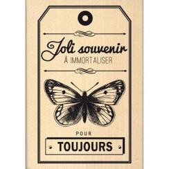 Tampon bois SOUVENIRS POUR TOUJOURS par Florilèges Design. Scrapbooking et loisirs créatifs. Livraison rapide et cadeau dans ...