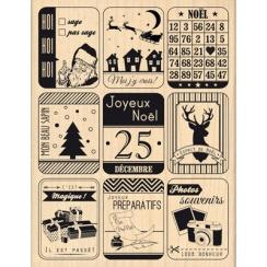 Tampon bois NEUF ÉTIQUETTES DE NOËL par Florilèges Design. Scrapbooking et loisirs créatifs. Livraison rapide et cadeau dans ...