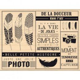 Tampon bois PETITES CHOSES SIMPLES par Florilèges Design. Scrapbooking et loisirs créatifs. Livraison rapide et cadeau dans c...