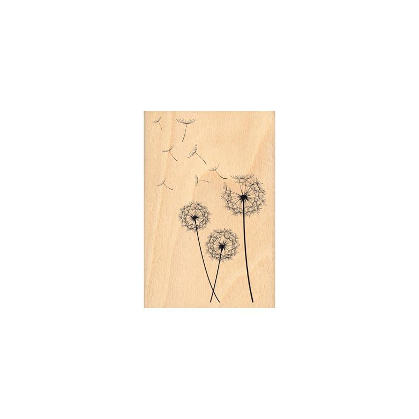 Tampon bois SOUFFLE LÉGER par Florilèges Design. Scrapbooking et loisirs créatifs. Livraison rapide et cadeau dans chaque com...