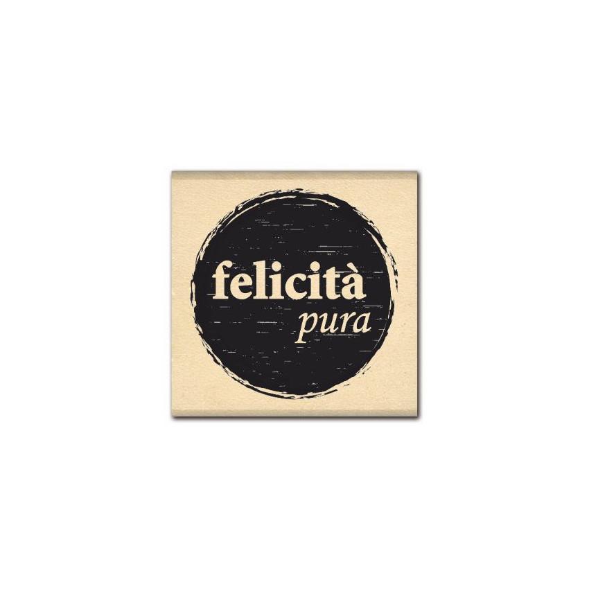 Tampon bois italien FELICITA PURA par Florilèges Design. Scrapbooking et loisirs créatifs. Livraison rapide et cadeau dans ch...