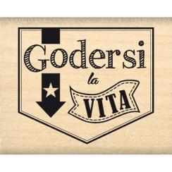 Tampon bois italien BANNER VITA par Florilèges Design. Scrapbooking et loisirs créatifs. Livraison rapide et cadeau dans chaq...