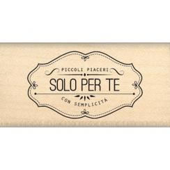 Tampon bois italien PICCOLI PIACERI PER TE par Florilèges Design. Scrapbooking et loisirs créatifs. Livraison rapide et cadea...