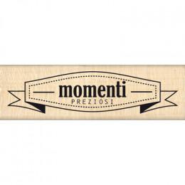 Tampon bois italien BANNER MOMENTI par Florilèges Design. Scrapbooking et loisirs créatifs. Livraison rapide et cadeau dans c...