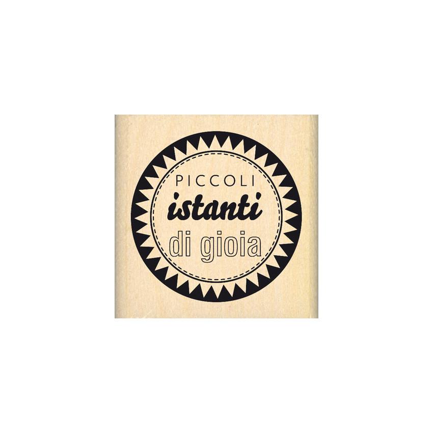 Tampon bois italien ISTANTI SELEZIONATI par . Scrapbooking et loisirs créatifs. Livraison rapide et cadeau dans chaque commande.