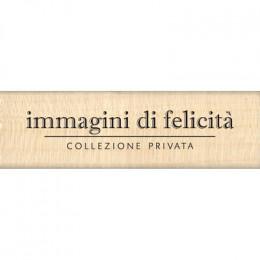 Parfait pour créer : Tampon bois italien IMMAGINI DI FELICITA par Florilèges Design. Livraison rapide et cadeau dans chaque c...