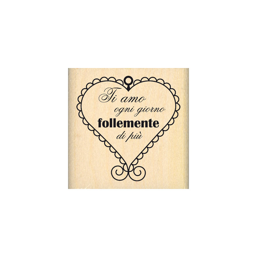 PROMO de -99.99% sur Tampon bois italien CUORE SCALLOP Florilèges Design