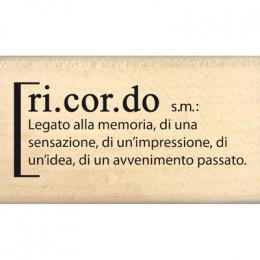 Tampon bois italien DEFINIZIONE DI RICORDO par Florilèges Design. Scrapbooking et loisirs créatifs. Livraison rapide et cadea...