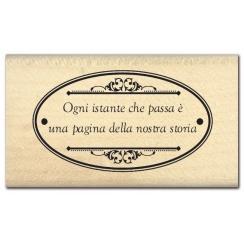 Parfait pour créer : Tampon bois italien OGNI ISTANTE par Florilèges Design. Livraison rapide et cadeau dans chaque commande.