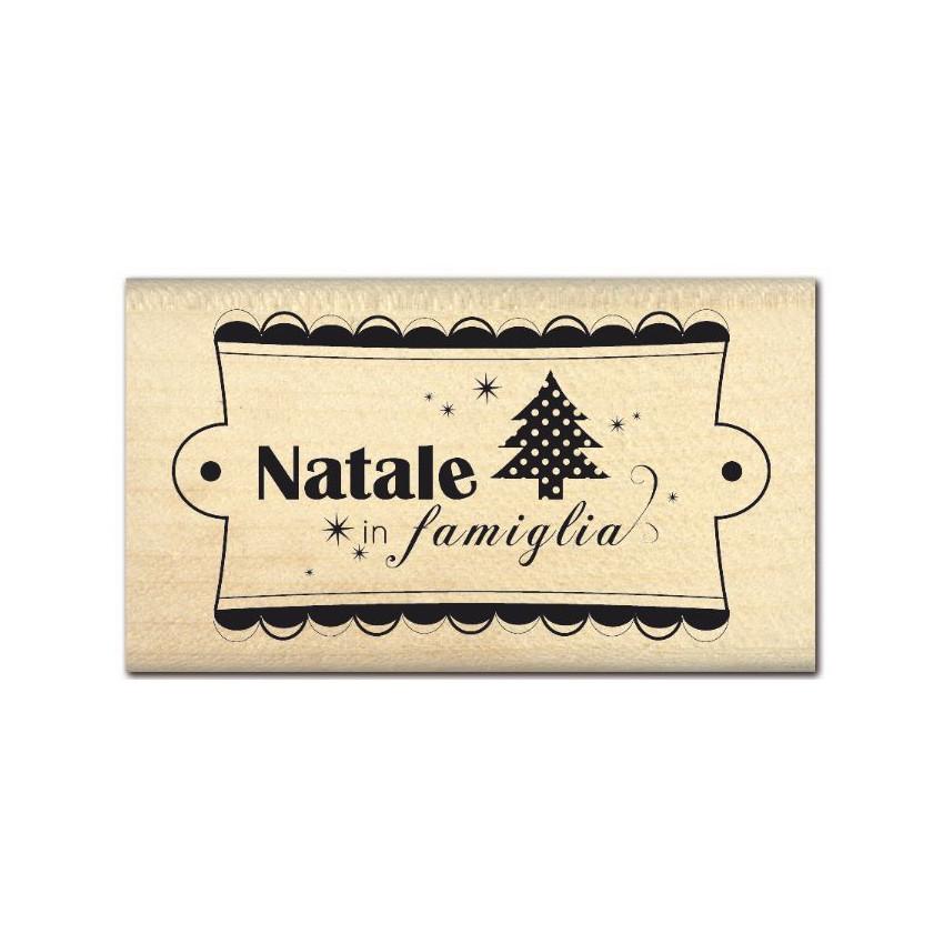 PROMO de -99.99% sur Tampon bois italien NATALE IN FAMIGLIA Florilèges Design