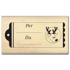 Parfait pour créer : Tampon bois italien ETICHETTA 2 par Florilèges Design. Livraison rapide et cadeau dans chaque commande.