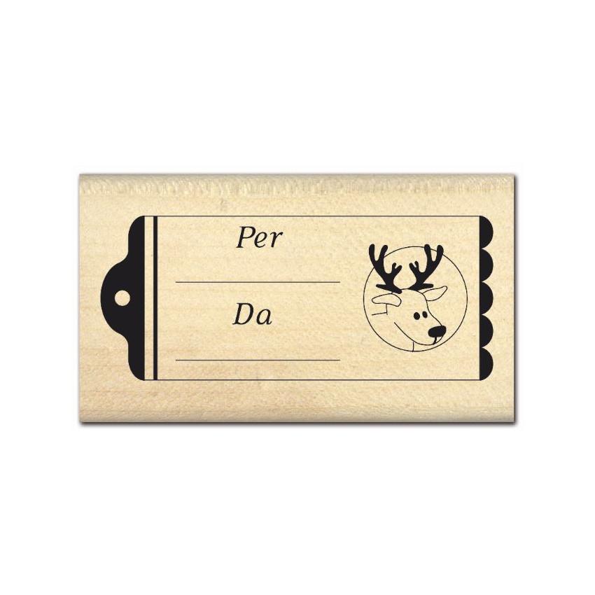 Tampon bois italien ETICHETTA 2 par Florilèges Design. Scrapbooking et loisirs créatifs. Livraison rapide et cadeau dans chaq...