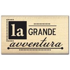 PROMO de -99.99% sur Tampon bois italien GRANDE AVVENTURA Florilèges Design