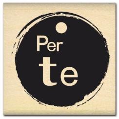 Tampon bois italien PER TE par Florilèges Design. Scrapbooking et loisirs créatifs. Livraison rapide et cadeau dans chaque co...