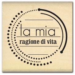 Tampon bois italien RAGIONE DI VITA par Florilèges Design. Scrapbooking et loisirs créatifs. Livraison rapide et cadeau dans ...