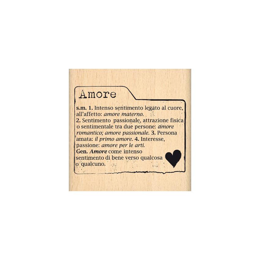 Tampon bois italien SCHEDA AMORE par Florilèges Design. Scrapbooking et loisirs créatifs. Livraison rapide et cadeau dans cha...