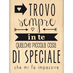 Tampon bois italien PICCOLE COSE par Florilèges Design. Scrapbooking et loisirs créatifs. Livraison rapide et cadeau dans cha...