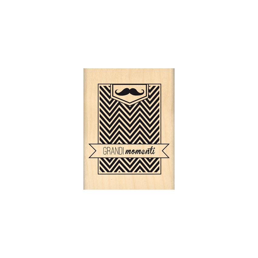 Tampon bois italien GRANDIMOMENTI par Florilèges Design. Scrapbooking et loisirs créatifs. Livraison rapide et cadeau dans ch...