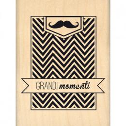 Parfait pour créer : Tampon bois italien GRANDIMOMENTI par Florilèges Design. Livraison rapide et cadeau dans chaque commande.