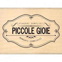 Parfait pour créer :  Tampon bois italien PICCOLI MOMENTI DI PIACERE par Florilèges Design. Livraison rapide et cadeau dans c...