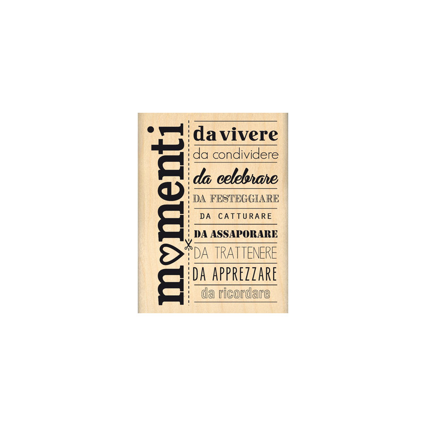 Tampon bois MOMENTI DA RICORDARE par Florilèges Design. Scrapbooking et loisirs créatifs. Livraison rapide et cadeau dans cha...