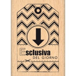 PROMO de -99.99% sur Tampon bois italien ESCLUSIVA DEL GIORNO Florilèges Design