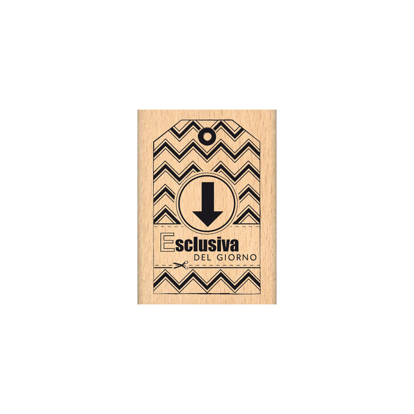 Parfait pour créer : Tampon bois italien ESCLUSIVA DEL GIORNO par Florilèges Design. Livraison rapide et cadeau dans chaque c...