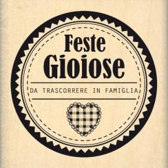 Tampon bois italien FESTE DA CONDIVIDERE par Florilèges Design. Scrapbooking et loisirs créatifs. Livraison rapide et cadeau ...