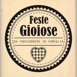 Commandez Tampon bois italien FESTE DA CONDIVIDERE Florilèges Design. Livraison rapide et cadeau dans chaque commande.